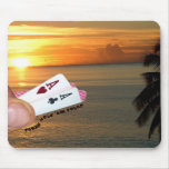 Texas Hold 'em Sunset Mouse Pad