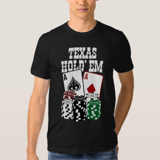 Texas Hold' em - Two Aces and Chips Shirt