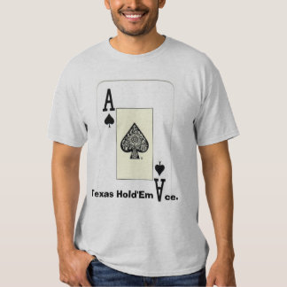 Texas Hold'Em Ace w Front Back Print Ace Design Shirt