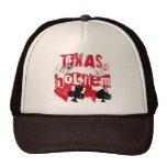 TEXAS HOLD'EM - DISTRESSED AND PAINT SPLATTER HAT
