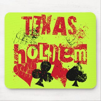 TEXAS HOLD'EM - DISTRESSED AND PAINT SPLATTER MOUSE PAD