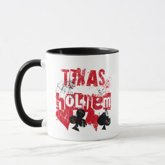 TEXAS HOLD'EM - DISTRESSED AND PAINT SPLATTER MUG