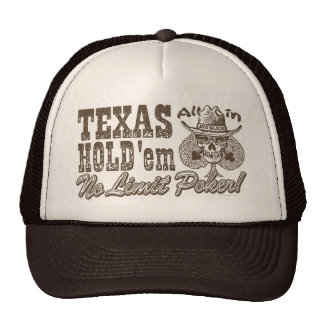Texas Hold'em No Limit Poker Trucker Hat