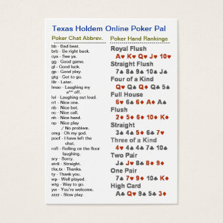 Texas Holdem Online Poker Pal Business Card