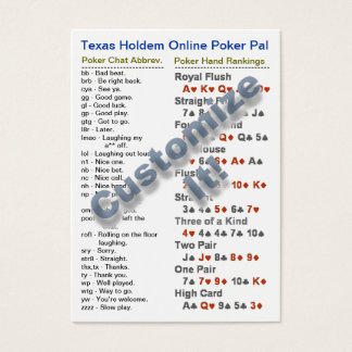 Texas Holdem Online Poker Pal Wallet Card