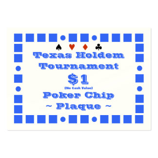 Texas Holdem Poker Chip Plaque $1 (100ct) Large Business Cards (Pack Of 100)