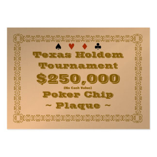Texas Holdem Poker Chip Plaque $250k (100ct) Large Business Cards (Pack Of 100)