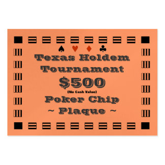 Texas Holdem Poker Chip Plaque $500 (100ct) Large Business Cards (Pack Of 100)
