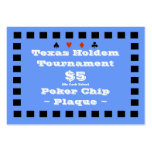 Texas Holdem Poker Chip Plaque $5 (100ct) Business Card Templates