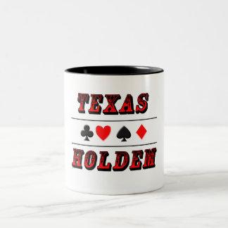 Texas Holdem Poker Two-Tone Coffee Mug