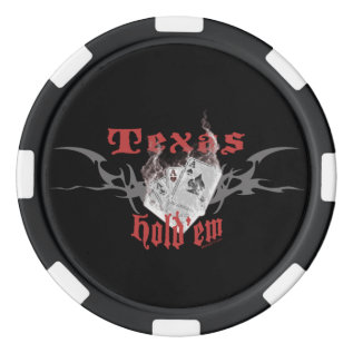 Texas Hold'em Pokerchips Poker Chip Set at Zazzle