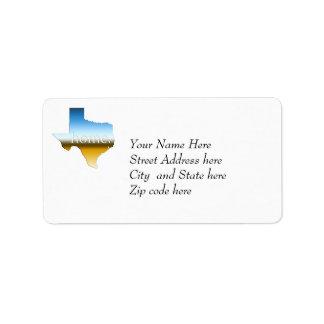 Texas Home Horizon Label