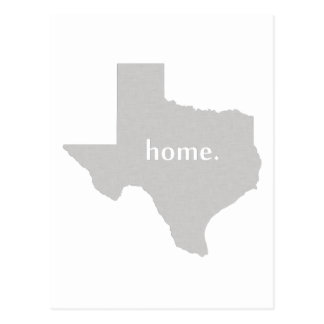 Texas home silhouette state map postcard