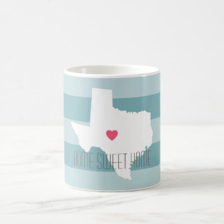 Texas Home State Love Wedding with Custom Heart Coffee Mug