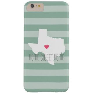 Texas Home State Love with Custom Heart Barely There iPhone 6 Plus Case