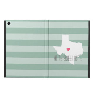 Texas Home State Love with Custom Heart iPad Air Covers