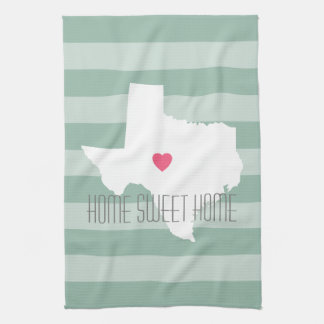 Texas Home State Love with Custom Heart Kitchen Towel