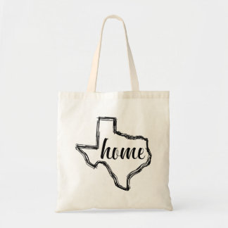 Texas Home State Outline Map Tote Bag
