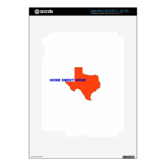 TEXAS HOME SWEET HOME DECALS FOR iPad 3