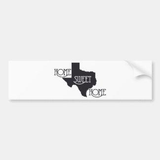 Texas Home Sweet Home U.S. Custom Ink Bumper Sticker