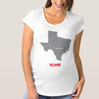 TEXAS Home Town Personalized Map Maternity T-Shirt