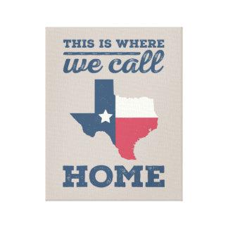 Texas Home Wall Art Canvas Print