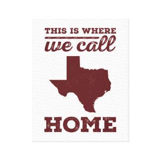 Texas Home Wall Art - Maroon