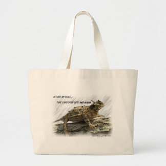 Texas Horned Lizard aka Horny Toad Large Tote Bag