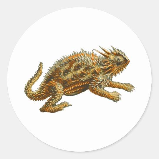 Texas Horned Lizard Classic Round Sticker