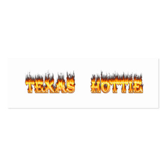 Texas hottie fire and flames business card template