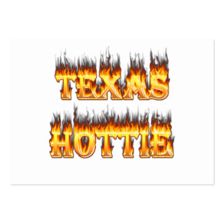 Texas hottie fire and flames business card templates
