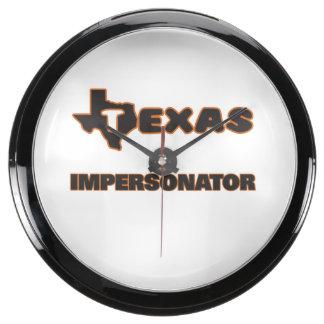 Texas Impersonator Aqua Clocks