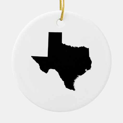Texas in Black and White Christmas Ornaments