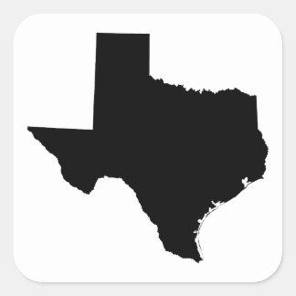 Texas in Black and White Square Sticker