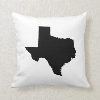 Texas in Black and White Throw Pillow