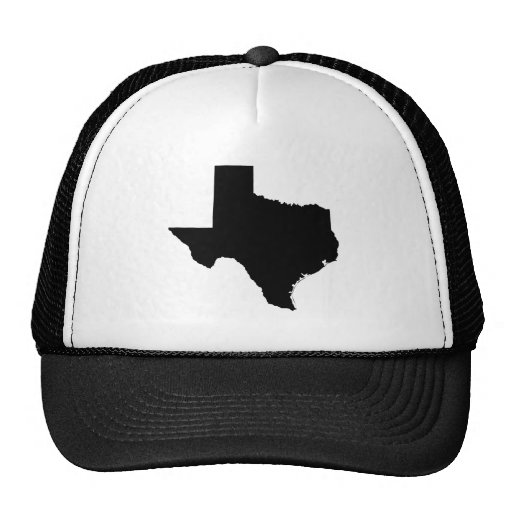 Texas in Black and White Trucker Hat
