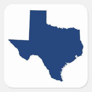 Texas in Blue Square Sticker