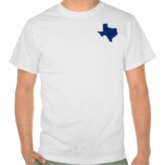 Texas in Blue Tee Shirt