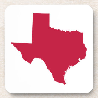 Texas in Red Drink Coaster