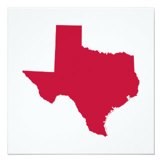 Texas in Red Personalized Announcements