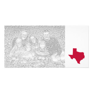 Texas in Red Photo Card