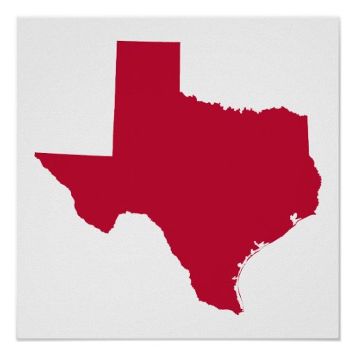Texas in Red Poster