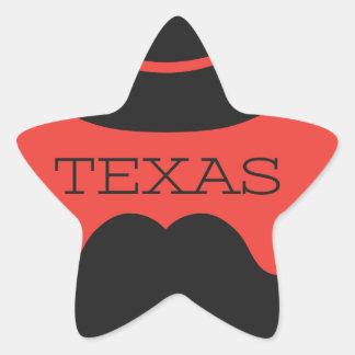 Texas in RED Star Sticker