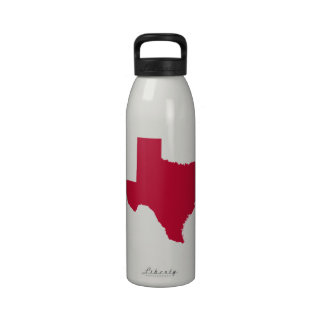 Texas in Red Reusable Water Bottle