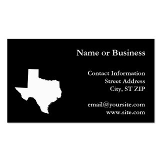 Texas in White and Black Business Card Templates