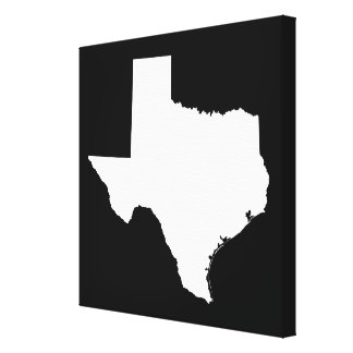 Texas in White and Black Canvas Print