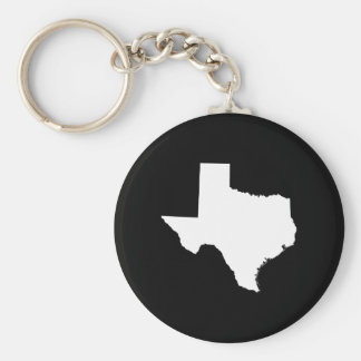 Texas in White and Black Keychain