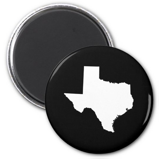 Texas in White and Black Magnet