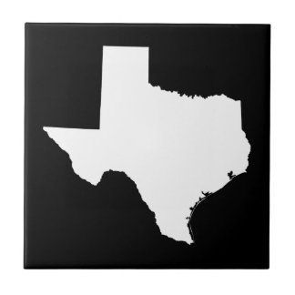 Texas in White and Black Tiles