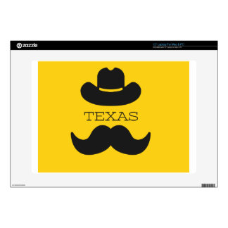 Texas in yellow skin for laptop